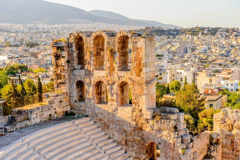 Amphitheater of the Acropolis of Athens. UNESCO World Hetiage site