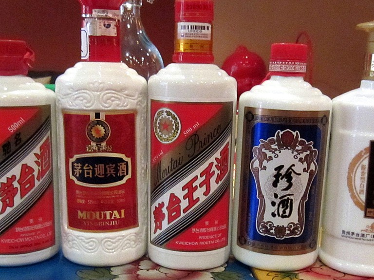 A range of baijius from Moutai