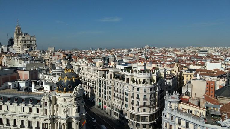 A view from the Círculo de Bellas Artes Rooftop | © Lori Zaino