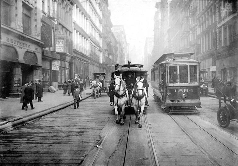 The last of the horse-drawn carriages