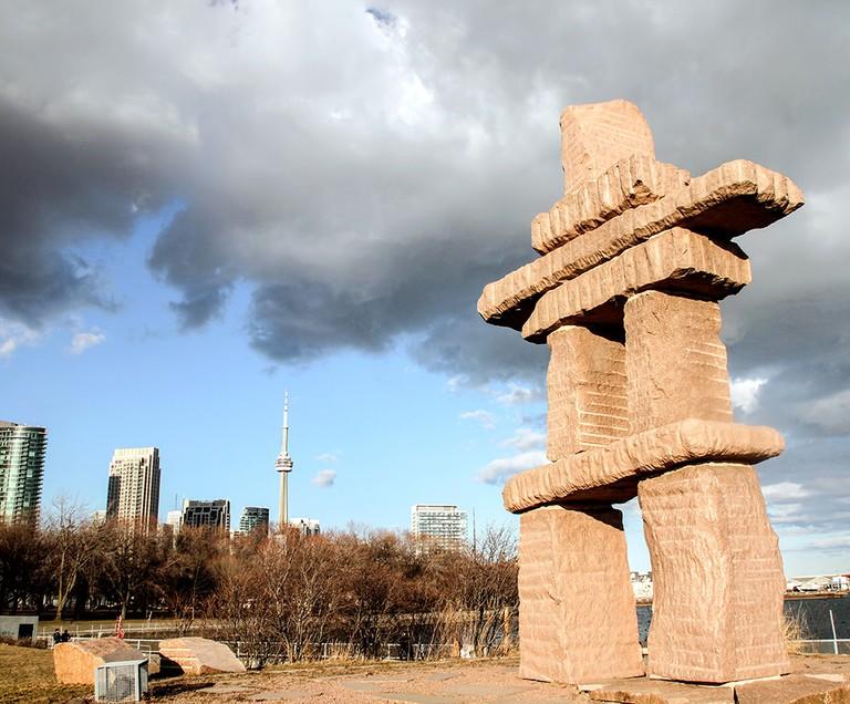 The Toronto Inukshuk, by Kellypalik Qimirpik | © Joseph Morris/ Flickr