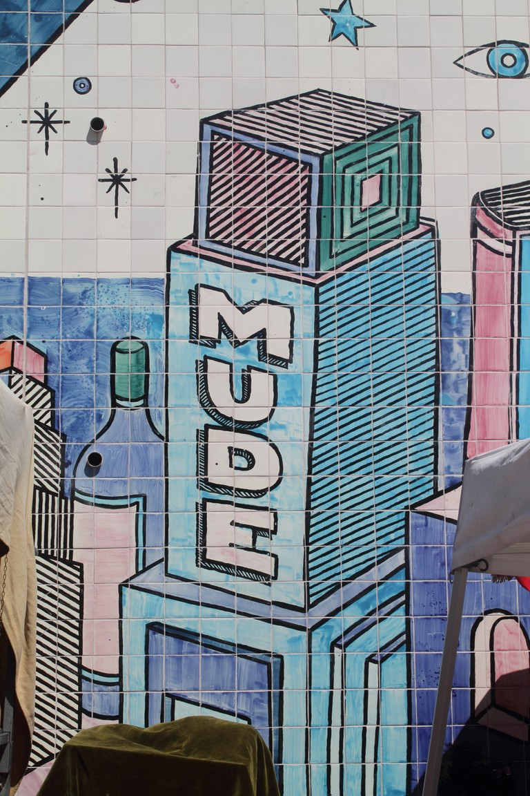 MUDE helped commission the mural © Nina Santos