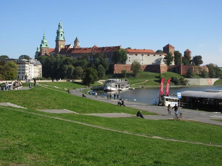 Vistula River and Wawel Castle