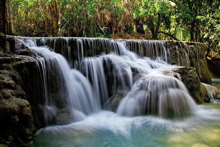 A tropical waterfall