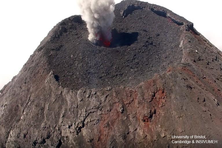 Summit of the volcano | Courtesy of University of Bristol