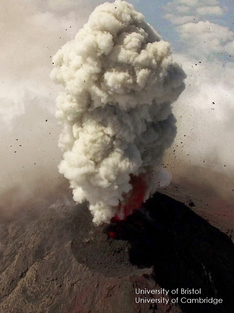 Volcano plume | Courtesy of Bristol University