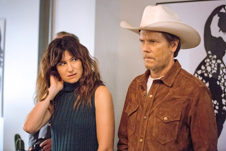 Smitten: Chris (Kathryn Hahn) and Dick (Kevin Bacon)