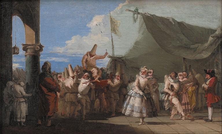 The Triumph of Pulcinella by Tiepolo