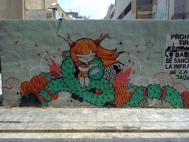 Graffiti wall murals in El Carmen, Valencia