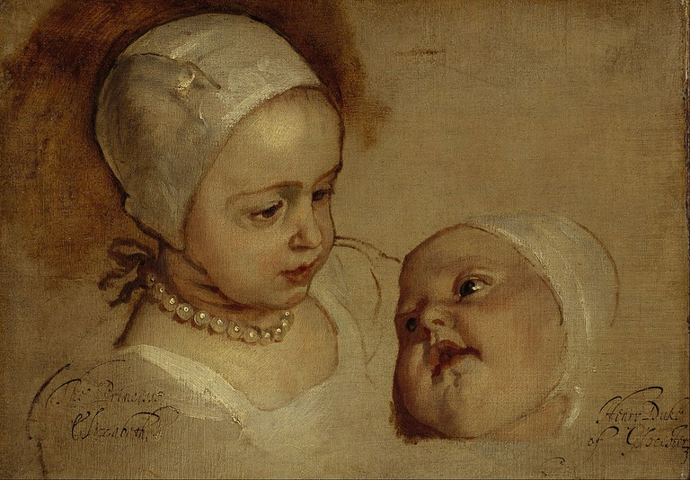 Princess Elizabeth And Princess Anne, Daughters of Charles, I, 1637 By Sir Anthony van Dyck | © WikiCommons