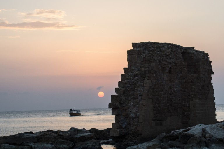 The sun sets over Acre (Akko)