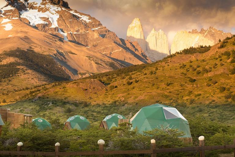 Sunset at EcoCamp Patagonia