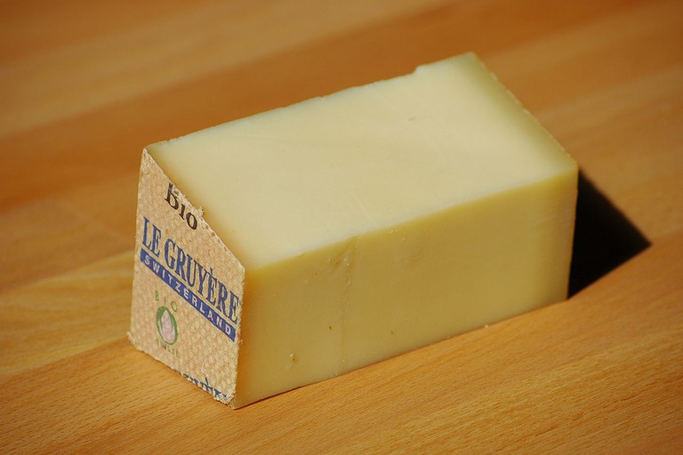 Gruyères' famous cheese