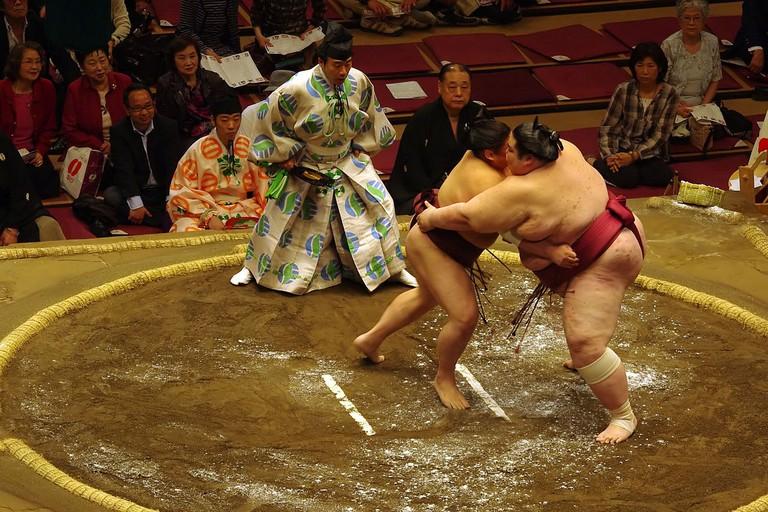 Sumo Wrestlers in Tokyo