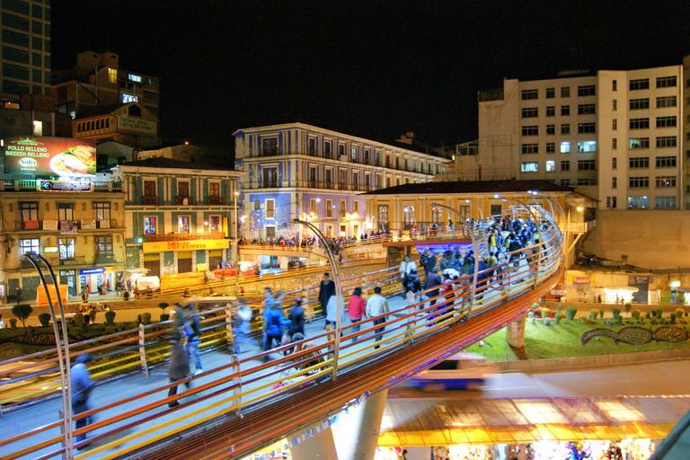 La Paz by Night | © Gary A. Valenzuela/Flickr