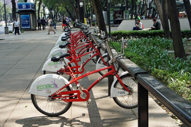 Ecobicis are a great mode of transport