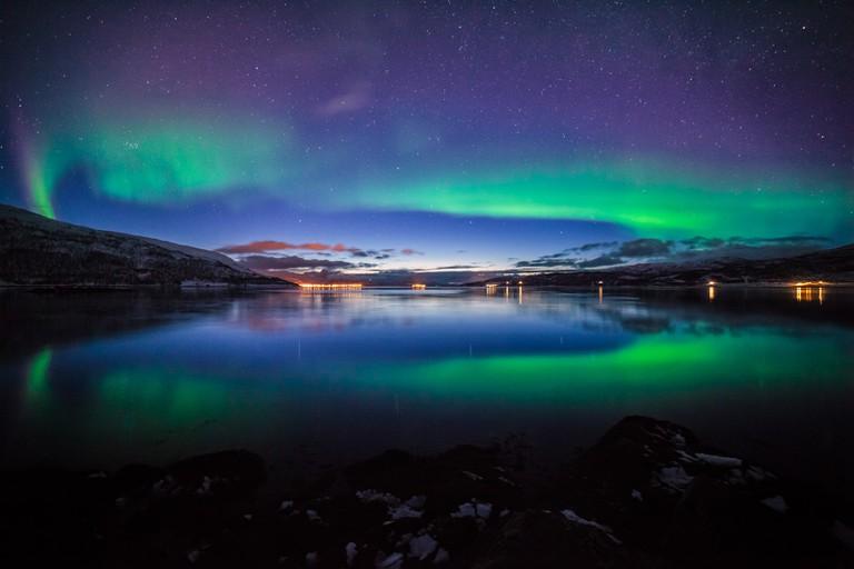 Aurora Borealis in Tromsø, Norway