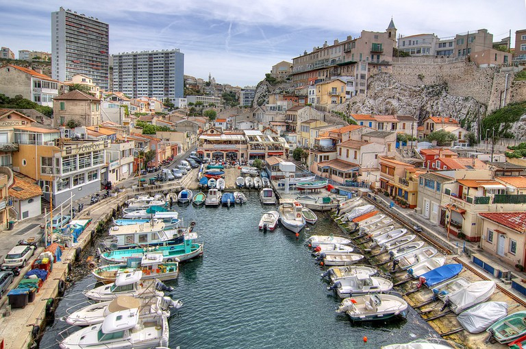Head out to the little port of Vallon des Auffes on the coast road, Corniche Kennedy, for lunch