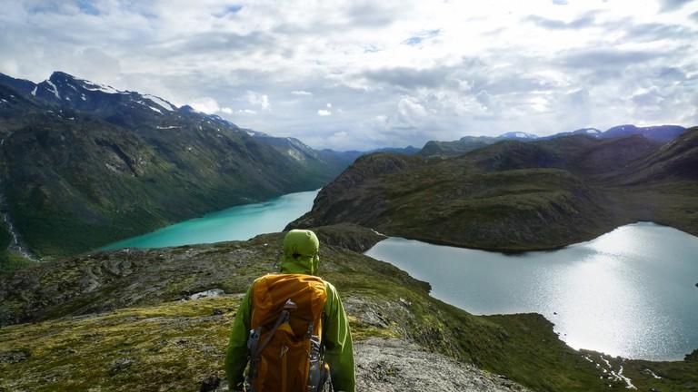 Hiking in Jotunheimen National Park, Norway