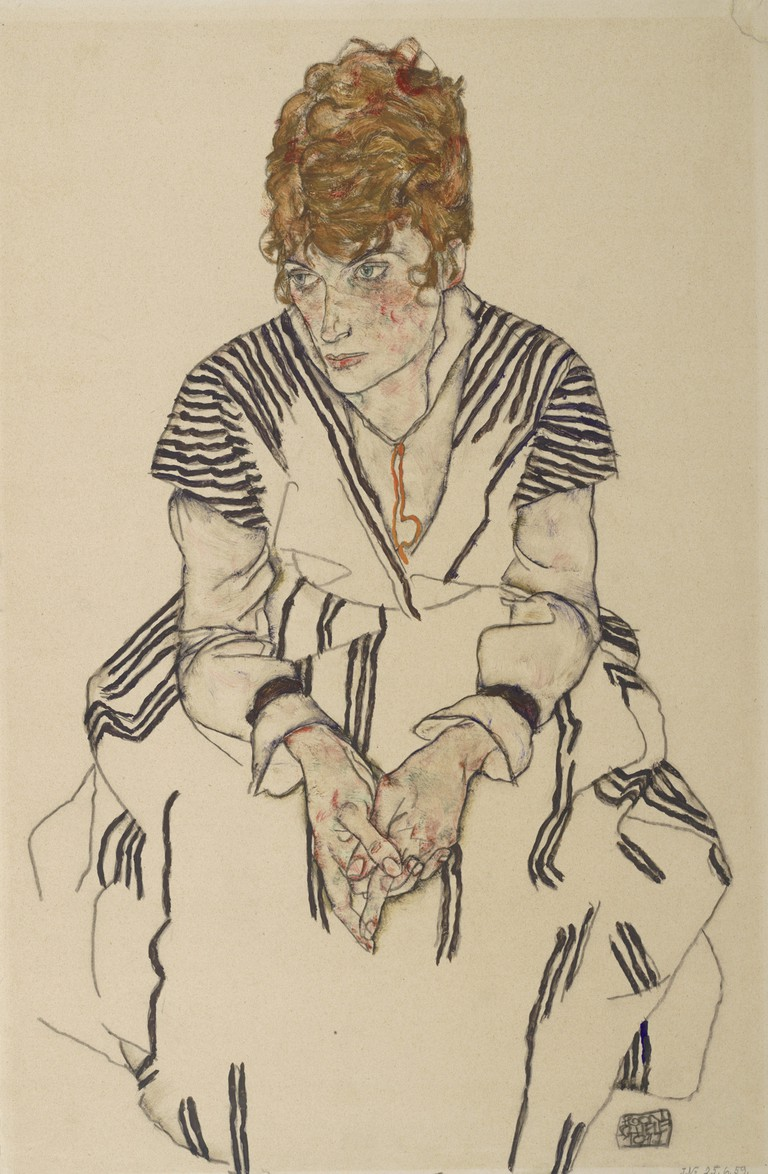 Egon Schiele Portrait of the Artist's Sister-in-Law, Adele Harms, 1917 Albertina, Vienna