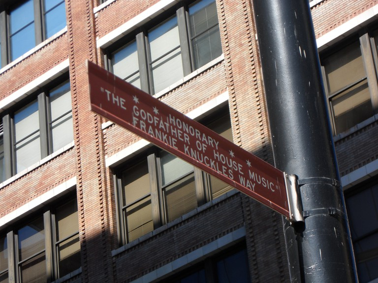 South Jefferson Street, the original site of the Warehouse, was renamed Frankie Knuckles Way in 2004 | © Karen Bryan/Flickr