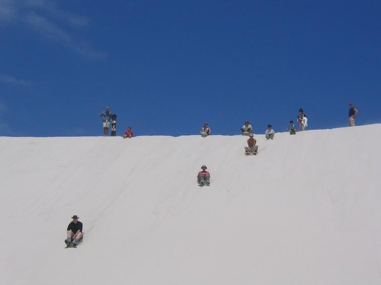 Sandboarding in Cape Town