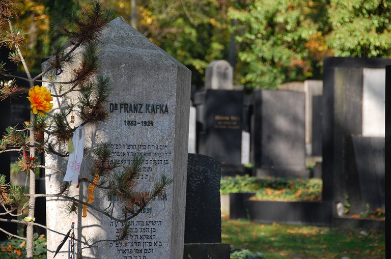 Franz Kafka's grave in the Jewish Cemetery   LWYang / Flickr