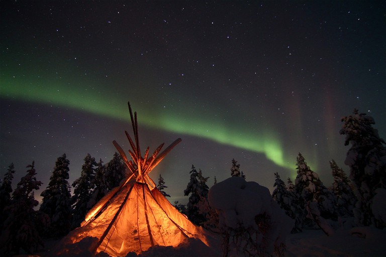 Northern lights visible in Lapland