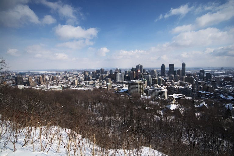 Montreal's skyline, as seen from Mont-Royal