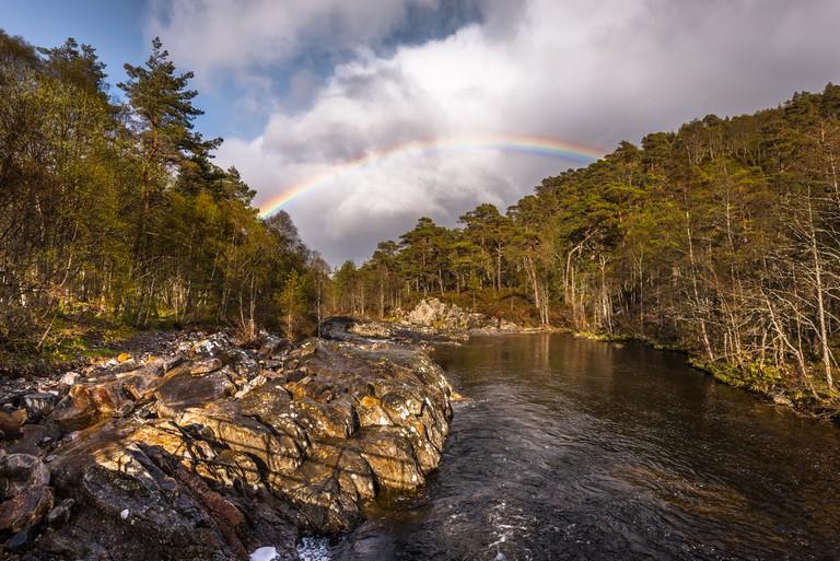 River Affric Rainbow