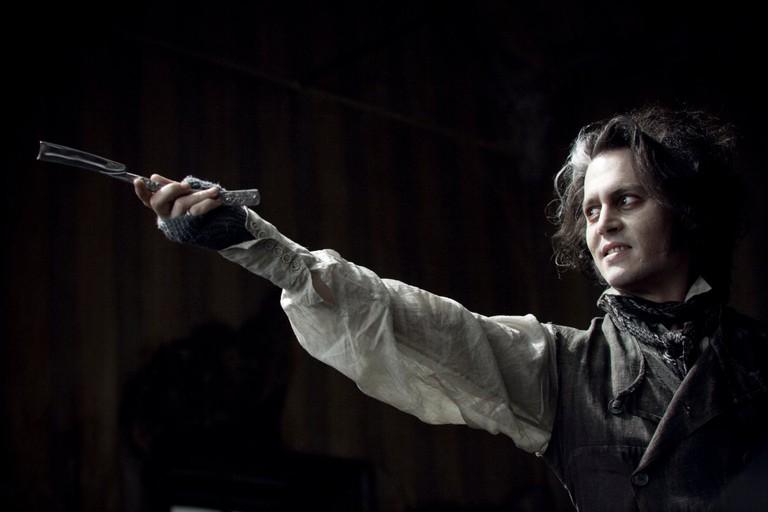 Johnny Depp as the demon barber Sweeney Todd