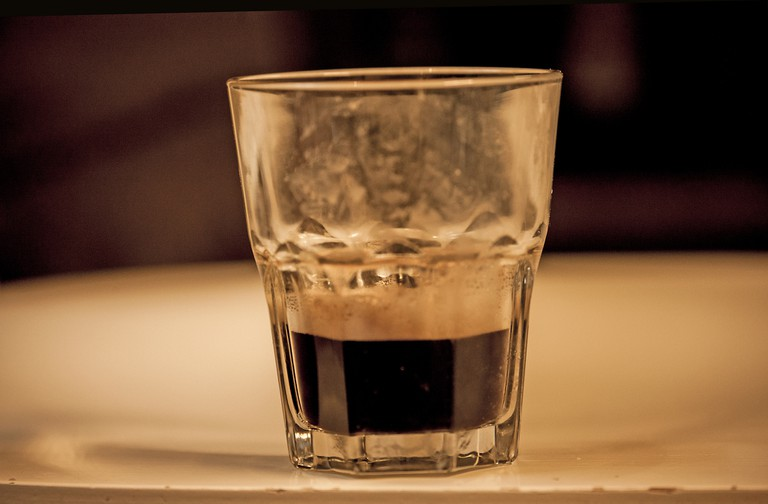 Small black coffee – aka cafe shahor, or cafe turki