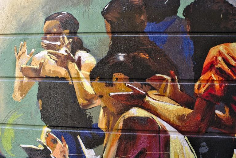 "Flamenco singers by Granada's street artist ""El Niño"""
