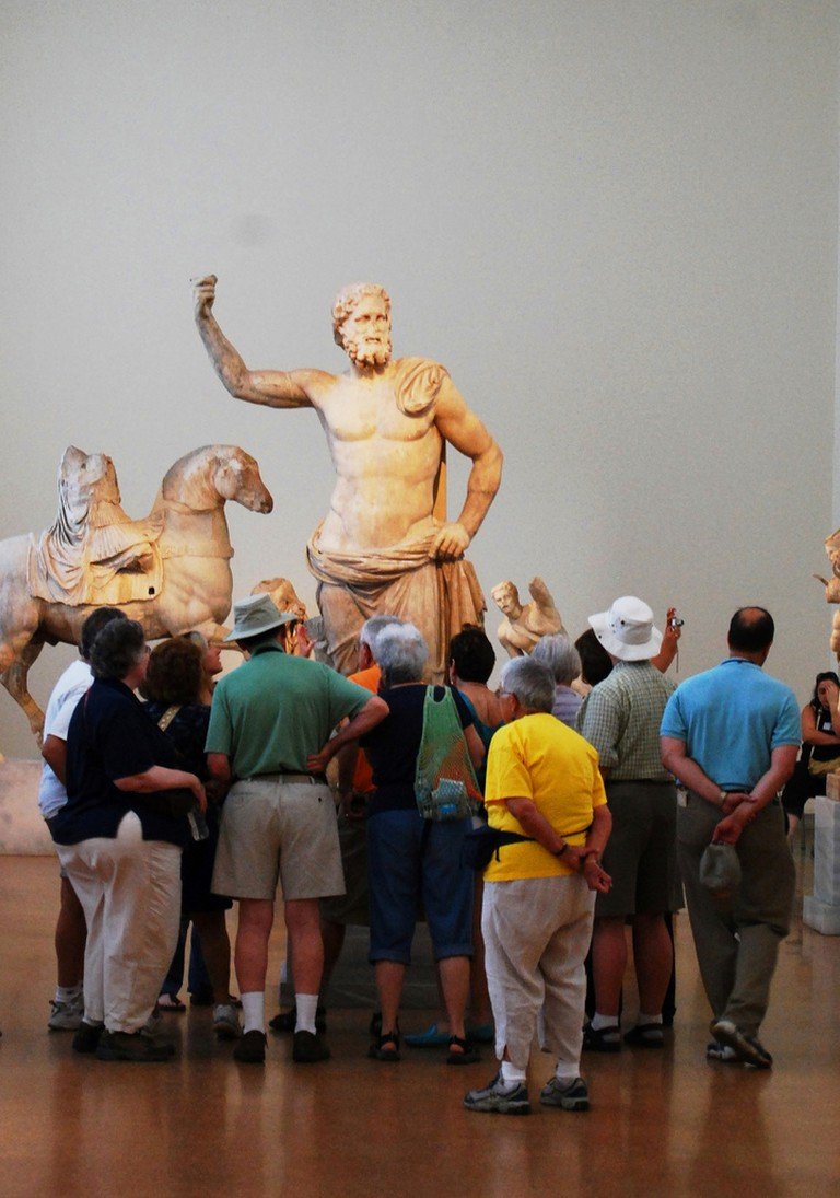 A guided tour at the National Archeological Museum, Athens