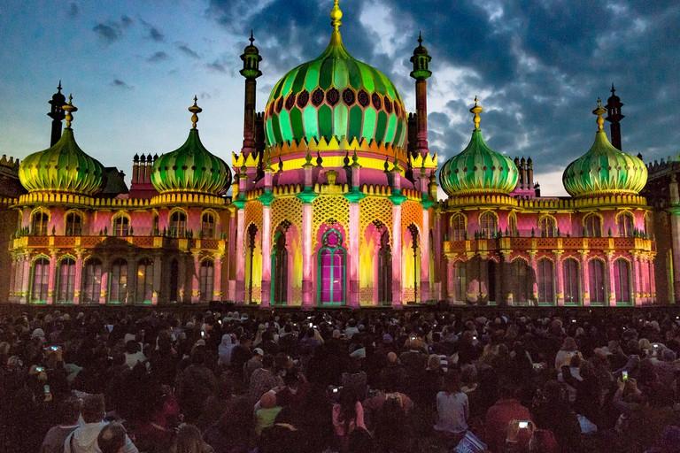 Spectacular light show at Royal Pavilion