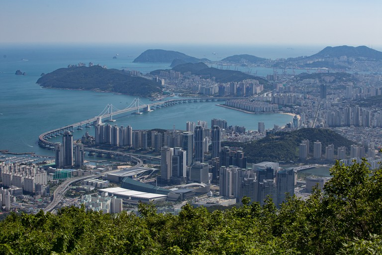 View of Busan from Jangsan Mountain