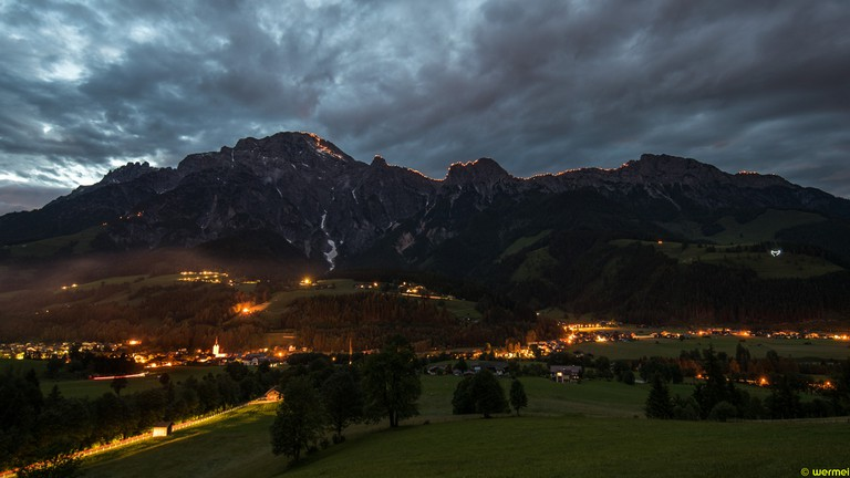 Midsummer bonfires across Austria