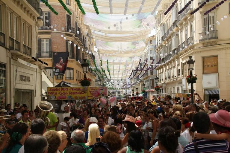 Street parties during Málaga's August feria I
