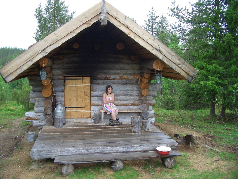 Exterior of a rural sauna