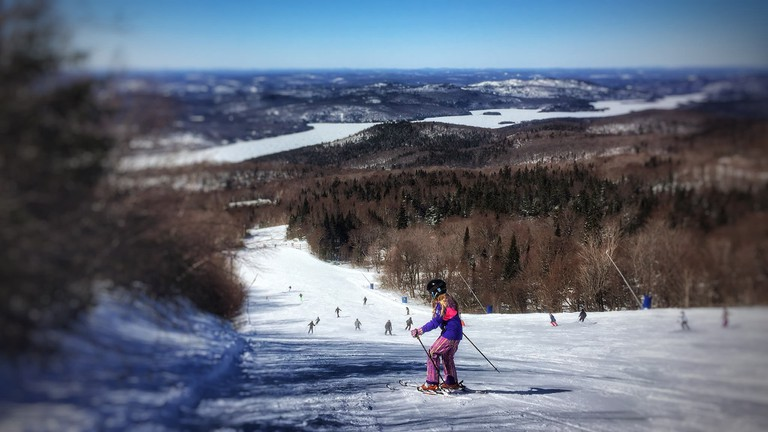 Skiing on Mont-Tremblant, Quebec