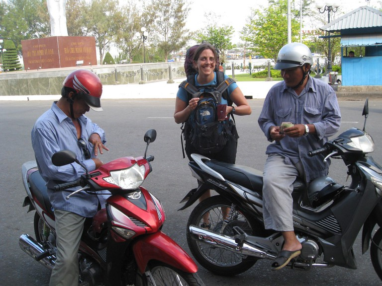 A traveler had the first motorbike ride in Vietnam