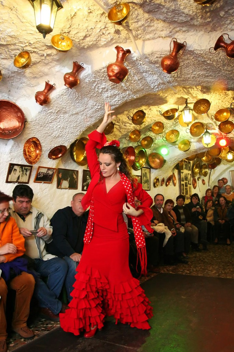 Zambra, a flamenco dance performed by the Roma people of Granada