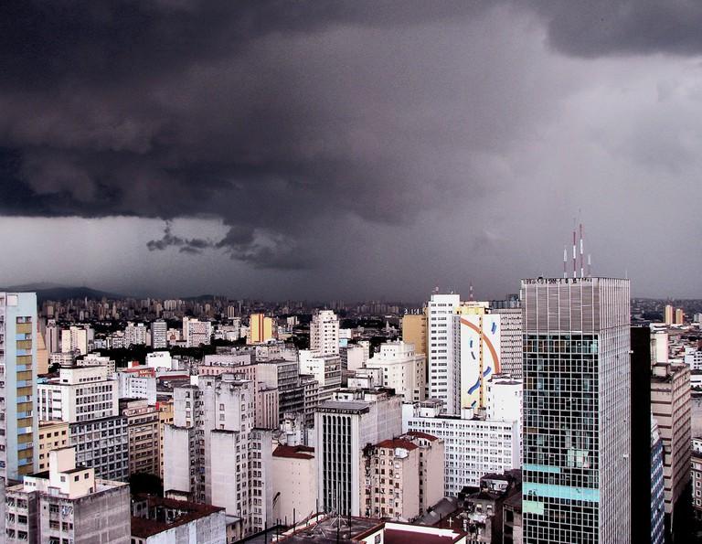 Rain cloud over São Paulo