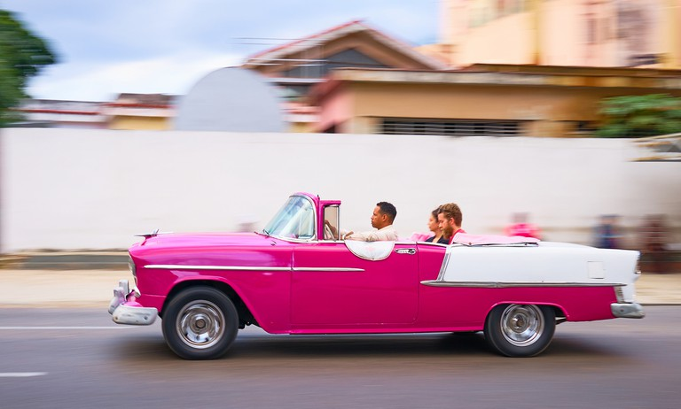 1950s convertible in Havana