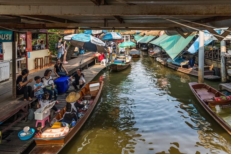 Bangkok, Thailand Canal tour, Floating market Taling Chan