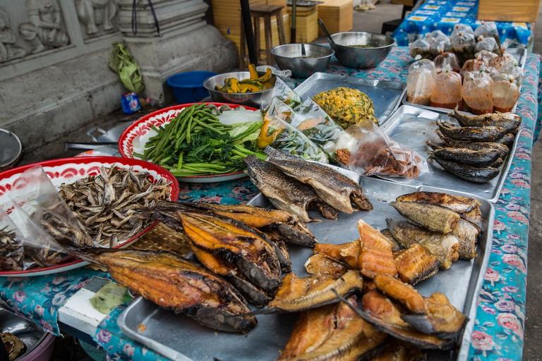 Sukhothai New Town, Thailand Street food