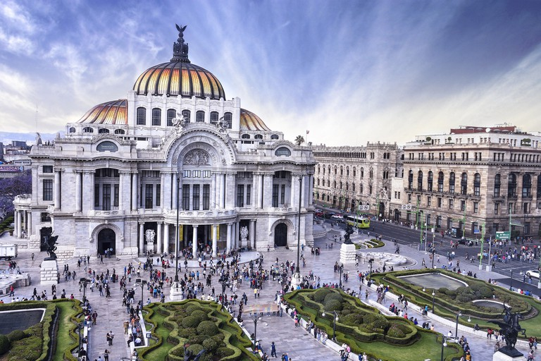 The view of Bellas Artes is great from the Sears Café