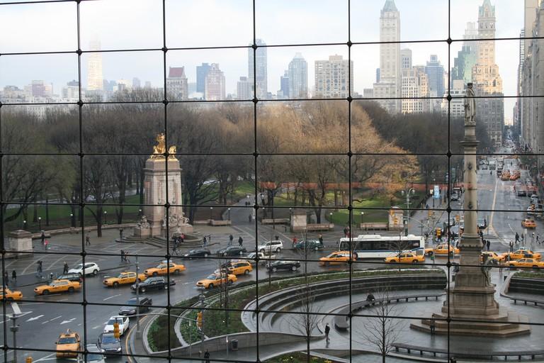 Columbus Circle sits at the edge of area code 10023