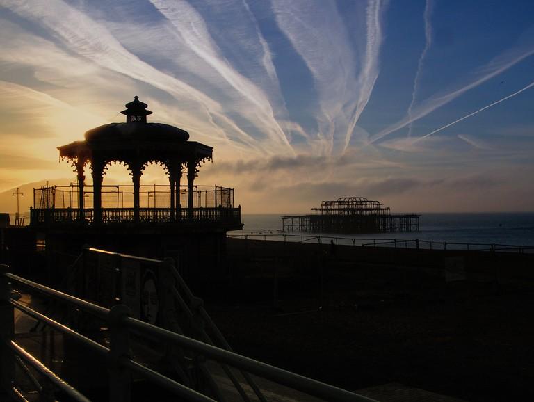 Bandstand & West Pier   © Neil/Flickr