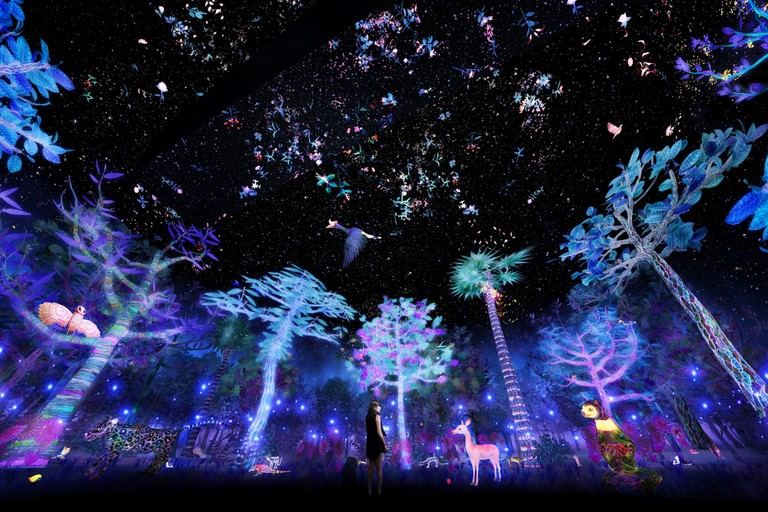 Story of the Forest at National Museum of Singapore - Artist impression by teamLab | Courtesy of the National Museum of Singapore